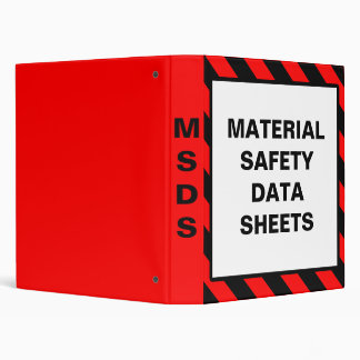 Safety Material Data Sheet Binders