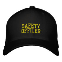 safety officer embroidered baseball cap
