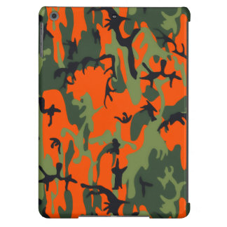 Safety Orange and Green Camo iPad Air Case