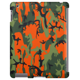 Safety Orange and Green Camo