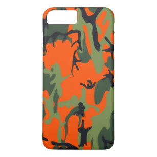 finest selection 02473 c2ede Safety Orange and Green Camo iPhone 8 Plus/7 Plus Case