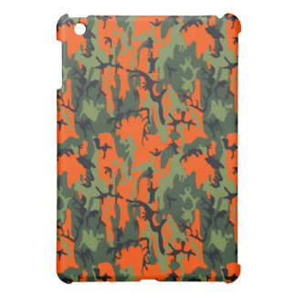 Safety Orange and Green Camo Cover For The iPad Mini