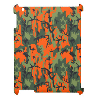Safety Orange and Green Camo Case For The iPad Mini