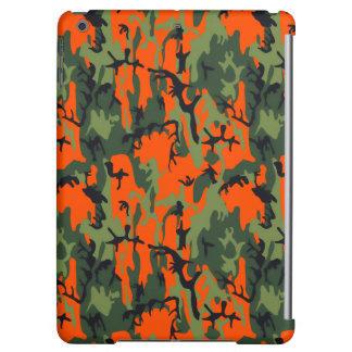 Safety Orange and Green Camo iPad Air Cover