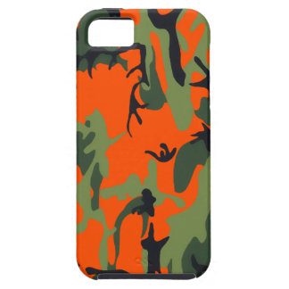 Safety Orange and Green Camo iPhone SE/5/5s Case