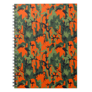 Safety Orange and Green Camo Notebook