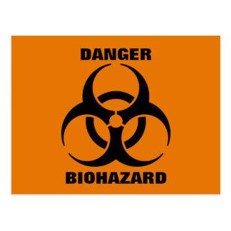 Safety Orange Biohazard Symbol Warning Sign Postcard