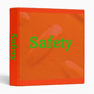 Safety Orange Diamondplate Binder