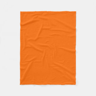 Safety Orange Fashionable Color Matching Fleece Blanket