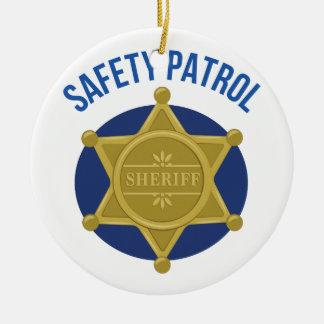 Safety Patrol Ceramic Ornament