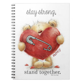Safety Pin - Bear - Stay Strong. Stand Together Notebook