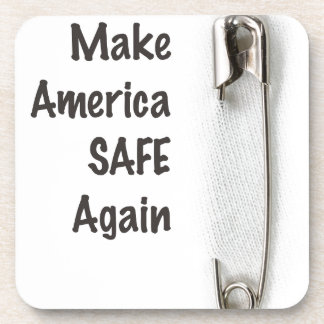 Safety Pin Beverage Coaster