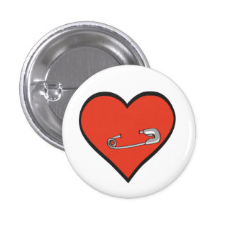 safety pin heart button