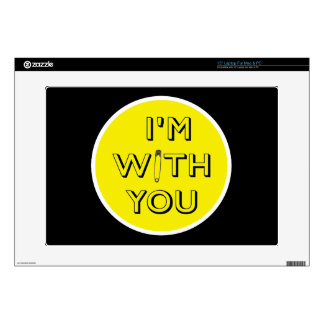 """Safety Pin - I'm With You Decal For 15"""" Laptop"""