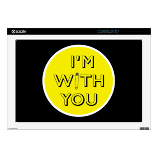 Safety Pin - I'm With You Decal For Laptop