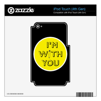Safety Pin - I'm With You Decals For iPod Touch 4G