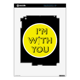 Safety Pin - I'm With You iPad 2 Decals