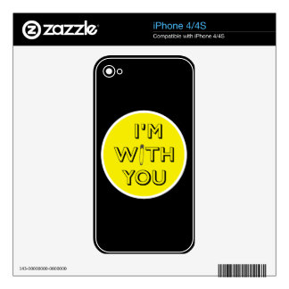 Safety Pin - I'm With You iPhone 4S Decal