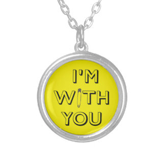 Safety Pin - I'm With You Silver Plated Necklace