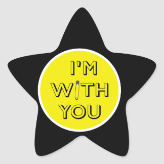 Safety Pin - I'm With You Star Sticker