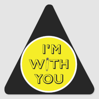 Safety Pin - I'm With You Triangle Sticker