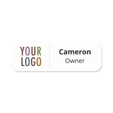 Safety Pin Name Tag or Magnetic with Custom Logo