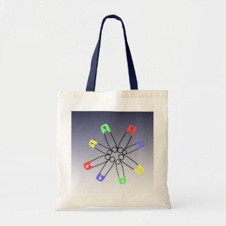 Safety Pin Rainbow Solidarity Tote Bag