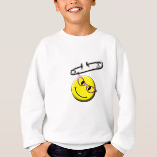 Safety Pin Smiley Face Sweatshirt