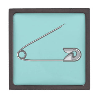 Safety Pin Vector Illustration Jewelry Box