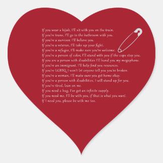 Safety Pledge Heart Sticker