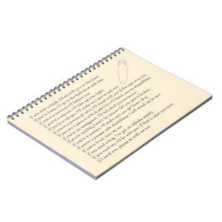 Safety Pledge Notebook