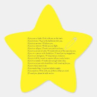 Safety Pledge Star Sticker