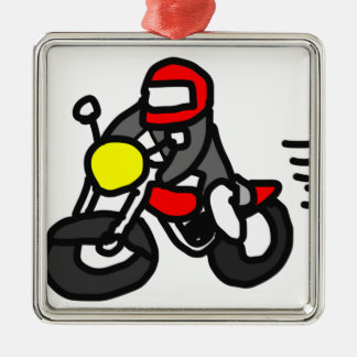 Safety Rider Metal Ornament