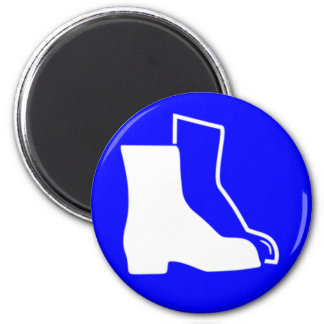 Safety shoes fridge magnets