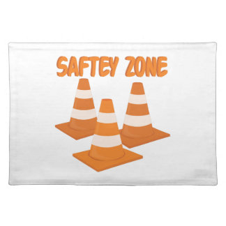 Safety Zone Cloth Place Mat