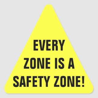 Safety Zone Work Triangle Sticker