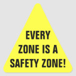 Safety Zone Work Triangle Sticker