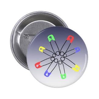 Safetypin Rainbow Colors Solidarity