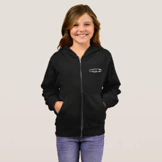 #SafeWithMe Girl's Zip Hoodie