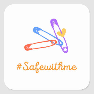 #safewithme square sticker