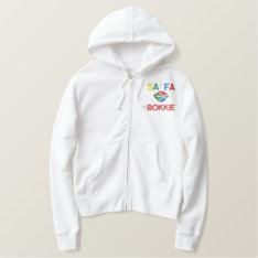 Saffa Bokkie Embroidered Hoody at Zazzle