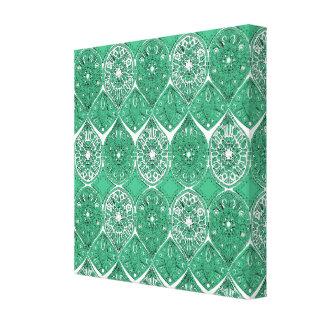 saffreya green canvas print