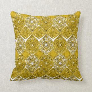 saffreya ochre throw pillow