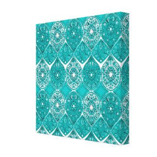 saffreya turquoise canvas print