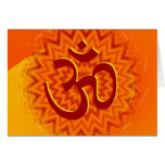 Saffrom Yellow Om Greeting Card