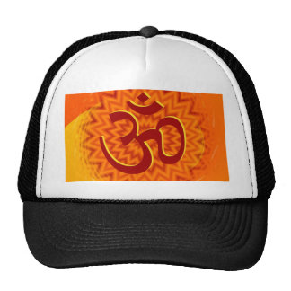 Saffrom Yellow Om Trucker Hats