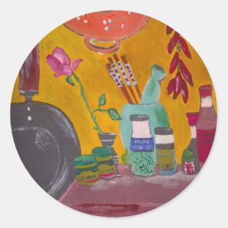 Saffron And Chillies Classic Round Sticker