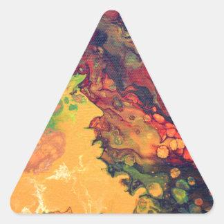Saffron and Curry Triangle Sticker
