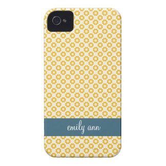 Saffron Baby Flowers Pattern iPhone4 Case