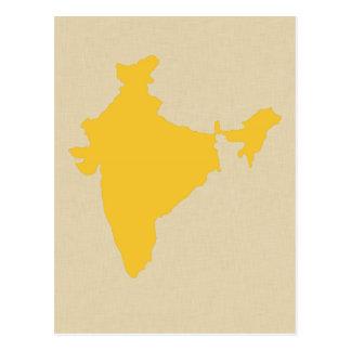 Saffron Blue Spice Moods India Post Card